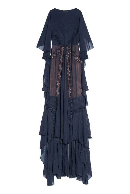 Dlhé modré šaty Twin-Set