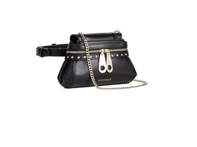 Elegantná čierna kabelka Twin-Set