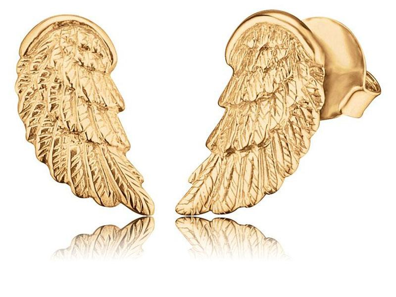 Engelsrufer náušnice Anjelské Krídla zlaté