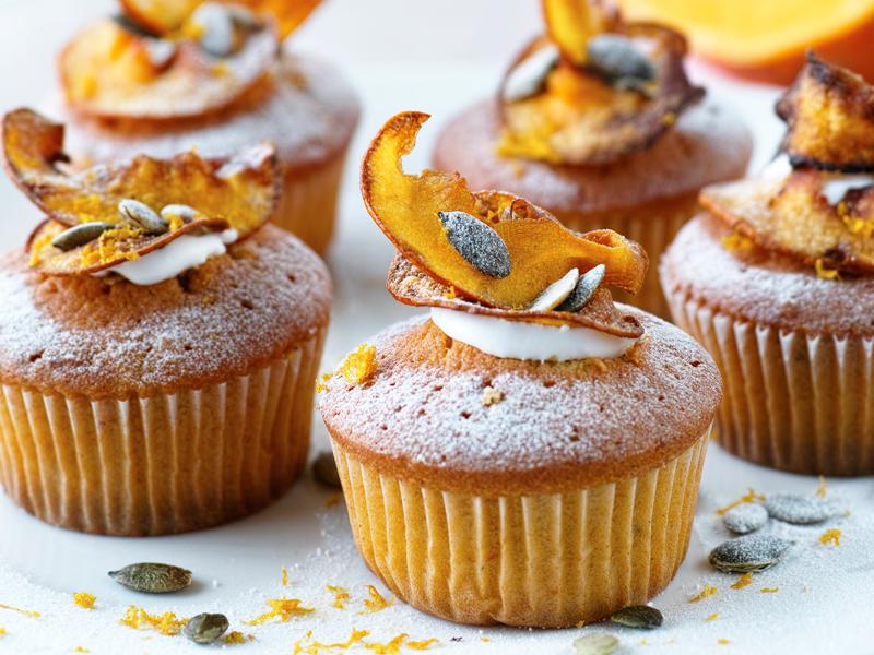 tekvicové cupcakes