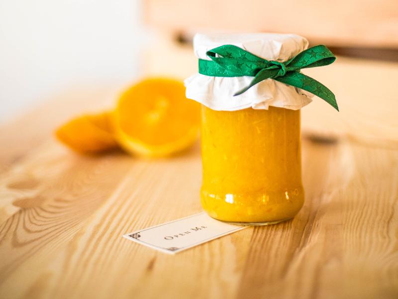 Marmeláda zpomela a pomarančov