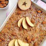 Jablkový crumble s mandlovo-ovsenou posýpkou