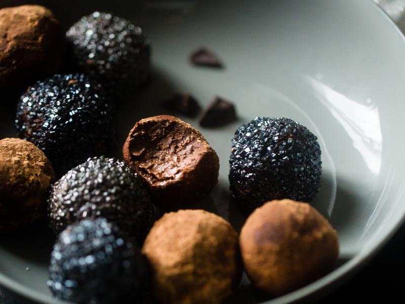 Čokoládovo-karamelové truffles