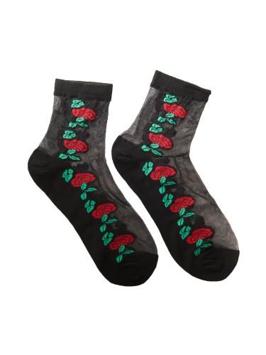 ponožky s výšivkou