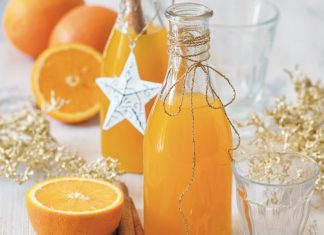 Pomarančový vianočný sirup