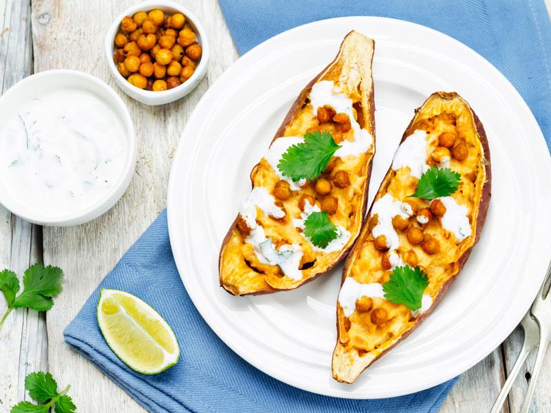 Sladké zemiaky plnené cícerom