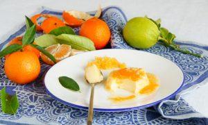 pomarančový puding