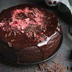 Cviklový koláč sčokoládou