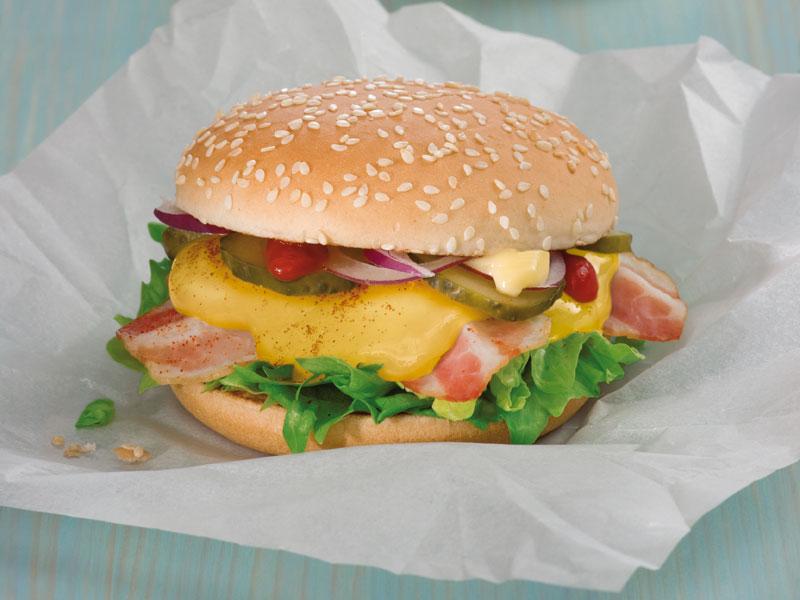 Hamburger z tvarůžkami