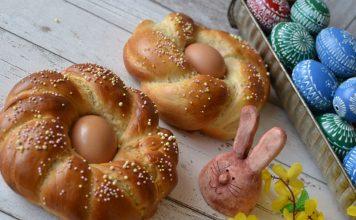 Veľkonočné vence s vajíčkami