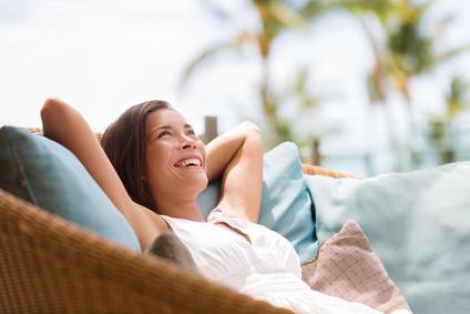 žena relax