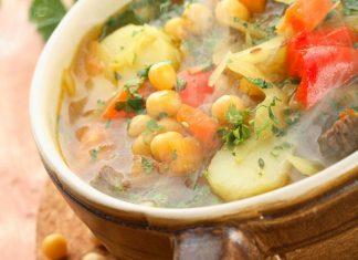 Cícerová polievka, zeleninový vývar