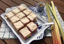 Rebarborovo-ribezľový koláč so snehom