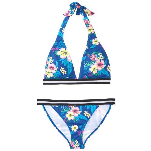 kvetinkové dvojdielne plavky
