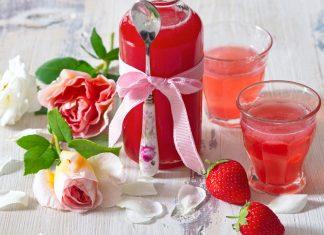 Jahodovo-ružový sirup