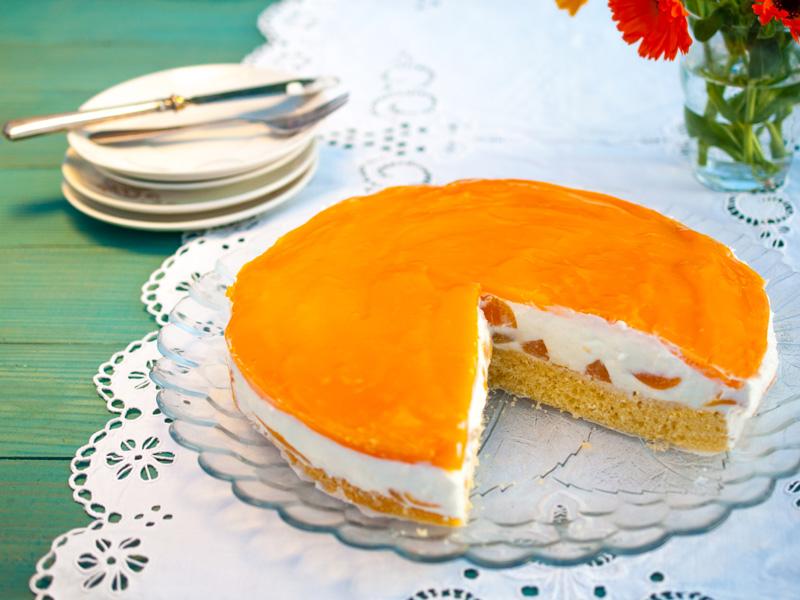 Marhuľovo-jogurtová torta