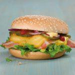 Hamburger s olomouckými tvarůžkami