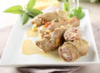 Plnené pečené mäso zo sviečkovice