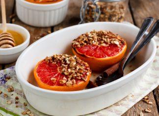 Pečený grapefruit s jogurtom