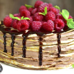 Palacinková torta s krémom