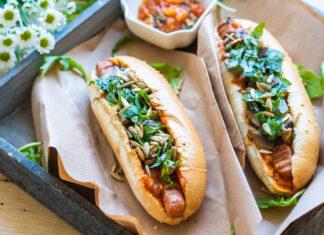 Vegánsky hotdog po taliansky