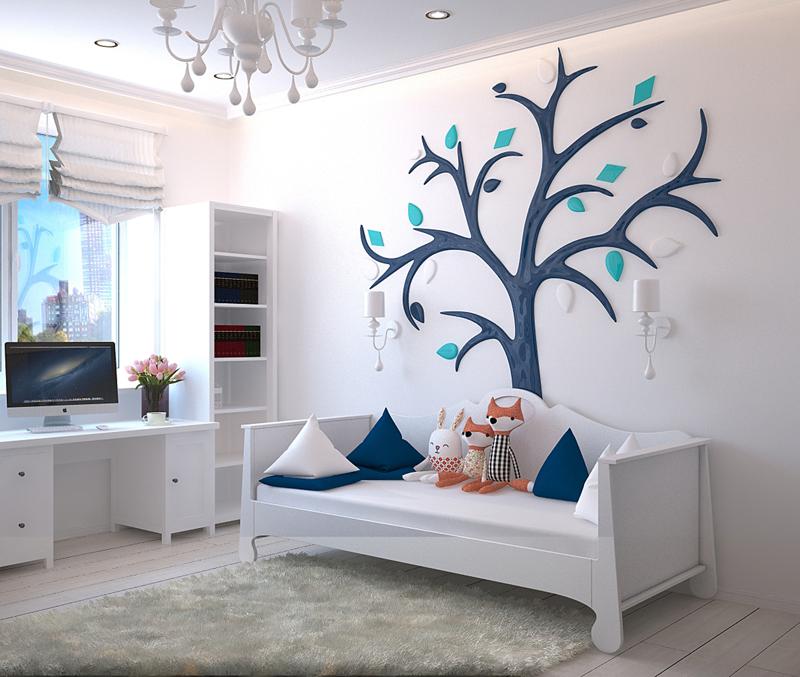 Biela v interiéri