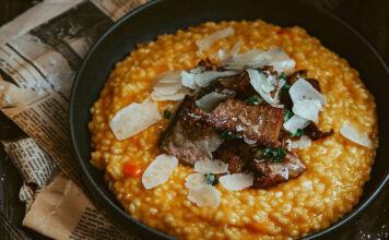 Tekvicové rizoto s hovädzím mäsom